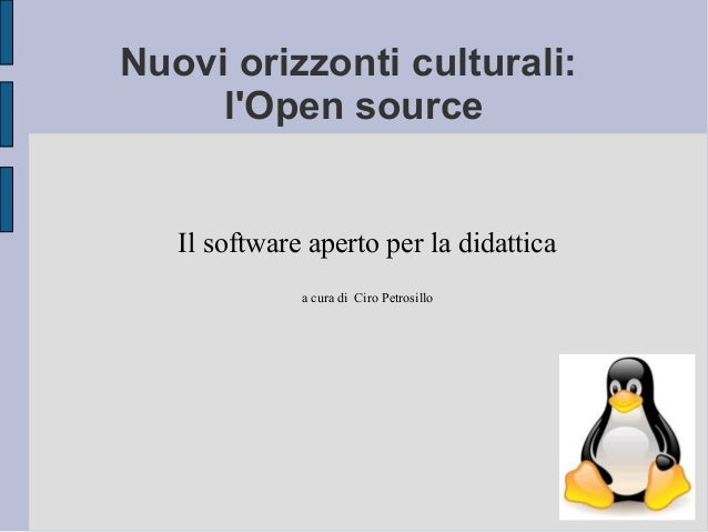 Open source per la didattica