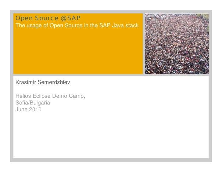 Eclipse Open Source @ SAP