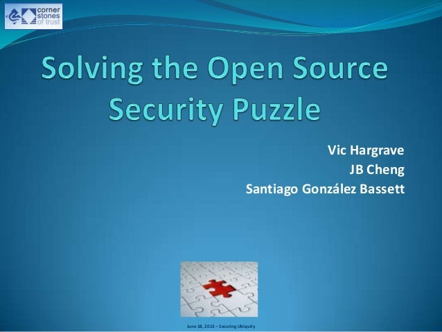Solving the Open Source Security Puzzle