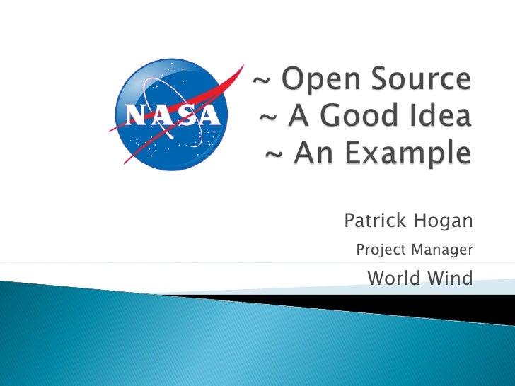 Patrick Hogan Project Manager World Wind