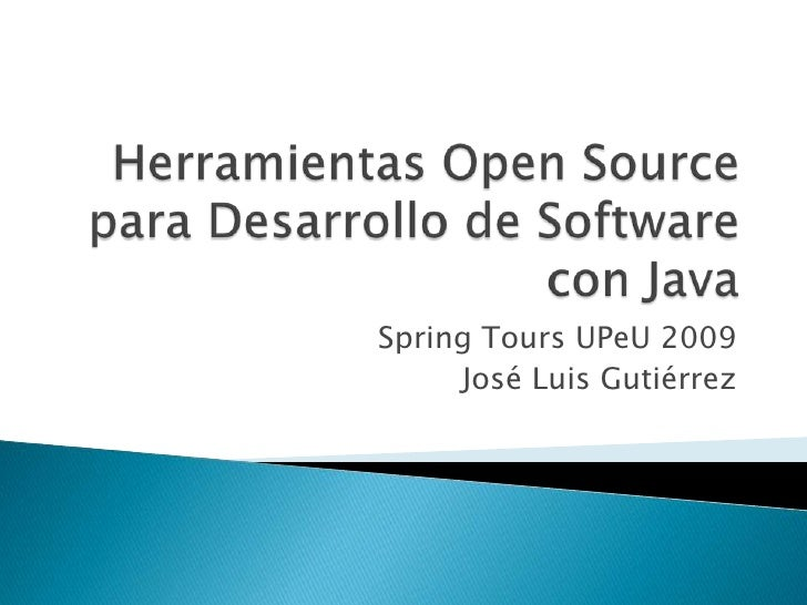 Open Source Tools for Java Projects