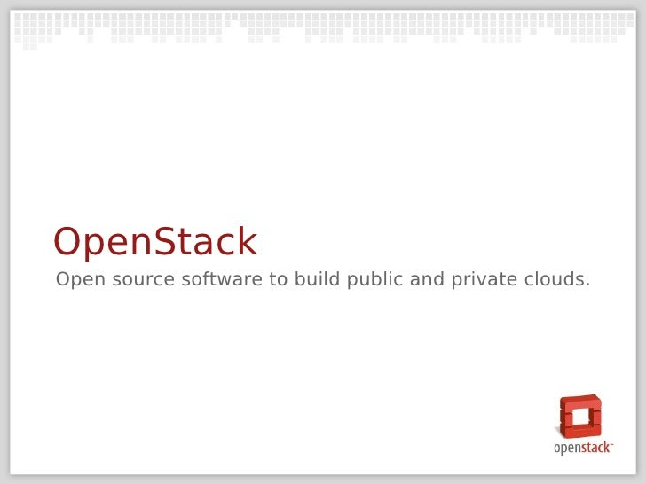 Open Stack OW2 Conference Nov10