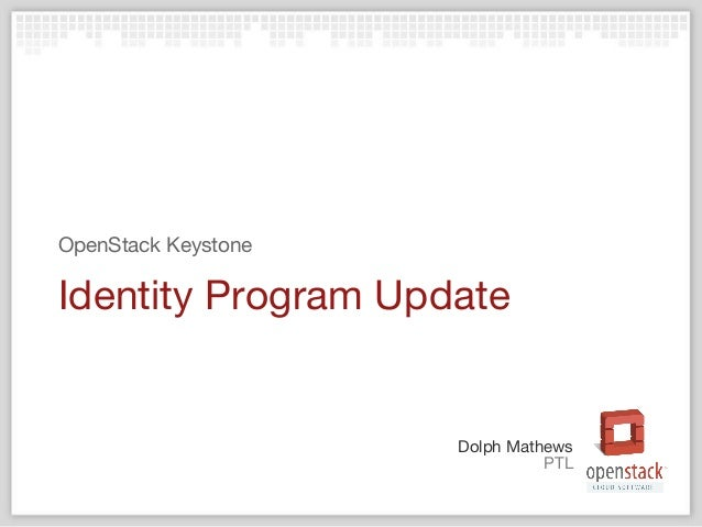 OpenStack identity project update Juno