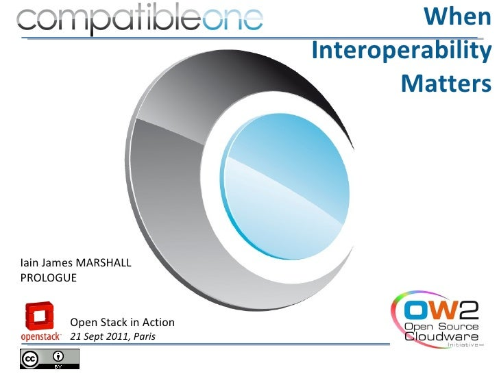 When                               Interoperability                                      MattersIain James MARSHALLPROLOGU...