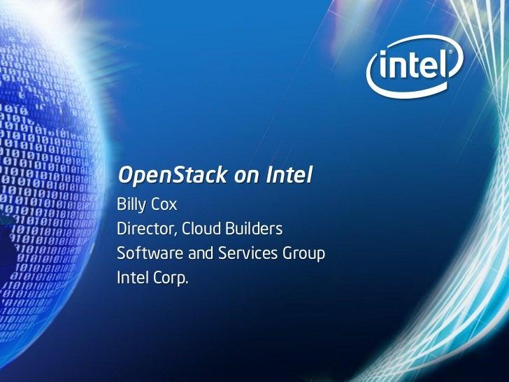 OpenStack on Intel