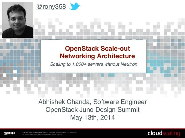 OpenStack Scale-out Networking Architecture