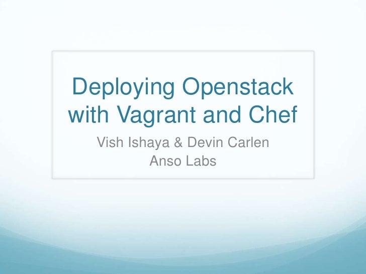 OpenStack vagrant & dashboard