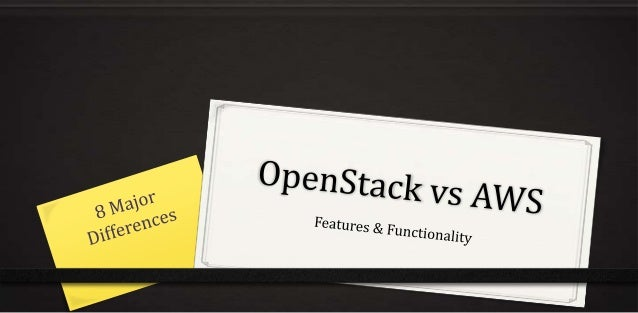 OpenStack AWS OpenStack is a loosely coupled set of software components that you must assemble or have someone assemble fo...