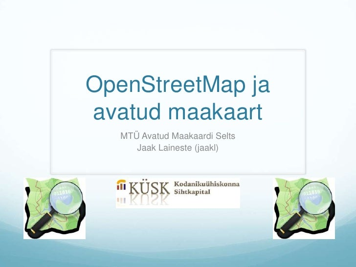 OpenStreetMap koolitus 2h