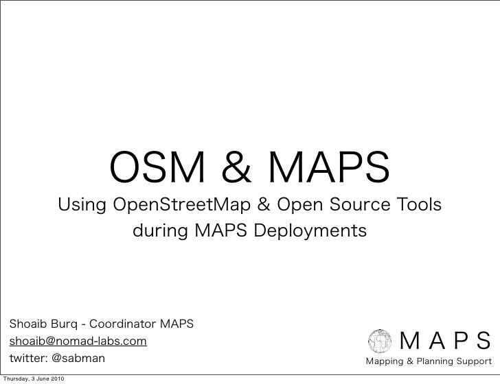OpenStreetMap & Walking-Papers Workflow