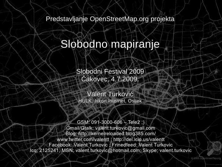 Slobodno mapiranje - OpenStreetMap