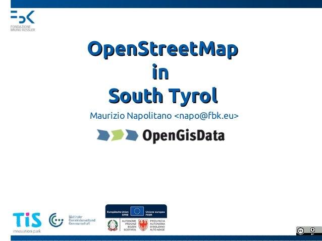 Openstreetmap in Südtirol