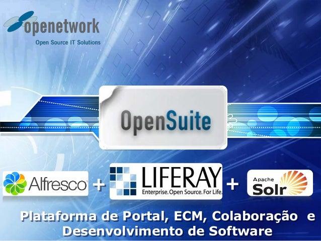 Plataforma de Portal, ECM, Colaboração e Desenvolvimento de Software + +