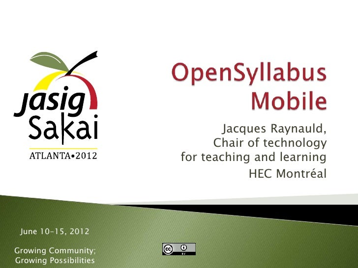 Jacques Raynauld,                              Chair of technology                        for teaching and learning       ...