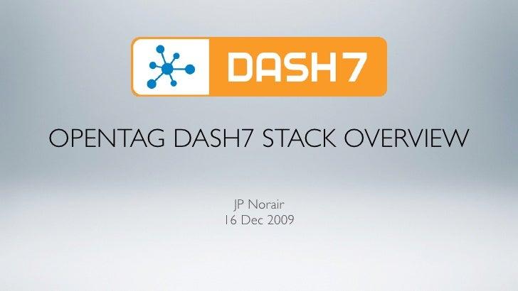 OPENTAG DASH7 STACK OVERVIEW               JP Norair            16 Dec 2009