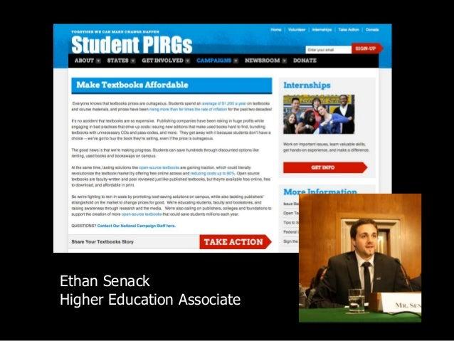 Ethan Senack Higher Education Associate