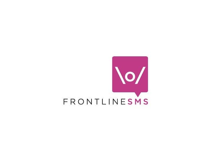 FrontlineSMS at Opentech, September 2010