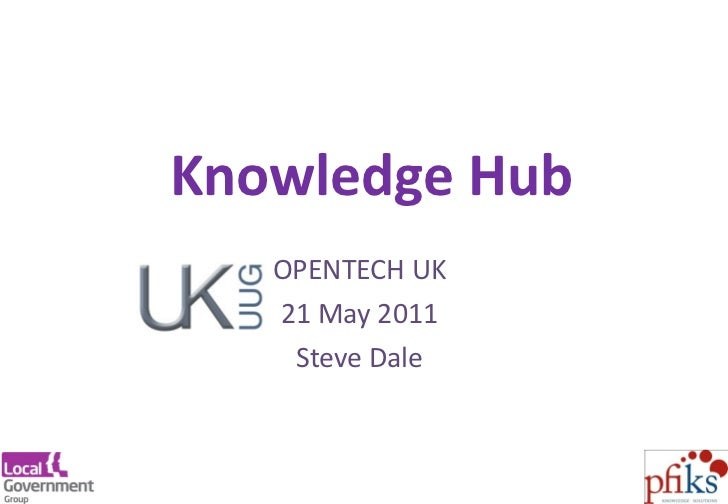 Knowledge Hub at OpenTech UK 21may11
