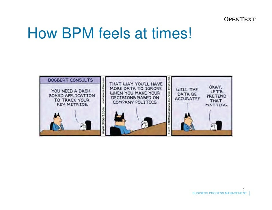How BPM feels at times!                                                  1                          BUSINESS PROCESS MANAG...