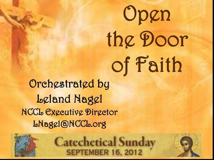 Doors Opening Open The Door of Faith