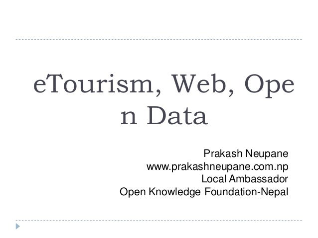 Tourism, Web and Open Tourism