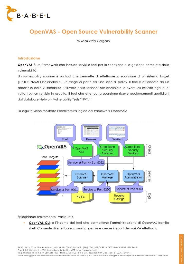 OpenVAS - Open Source Vulnerability Scanner                                                        di Maurizio PaganiIntro...