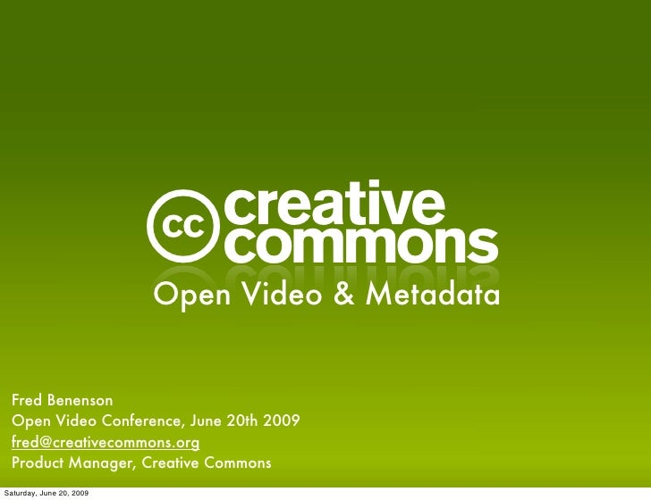 Open Video And Metadata Presentation