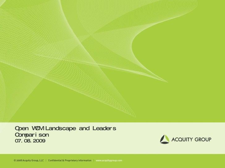 Open WCM Landscape and Leaders Comparison 07.08.2009