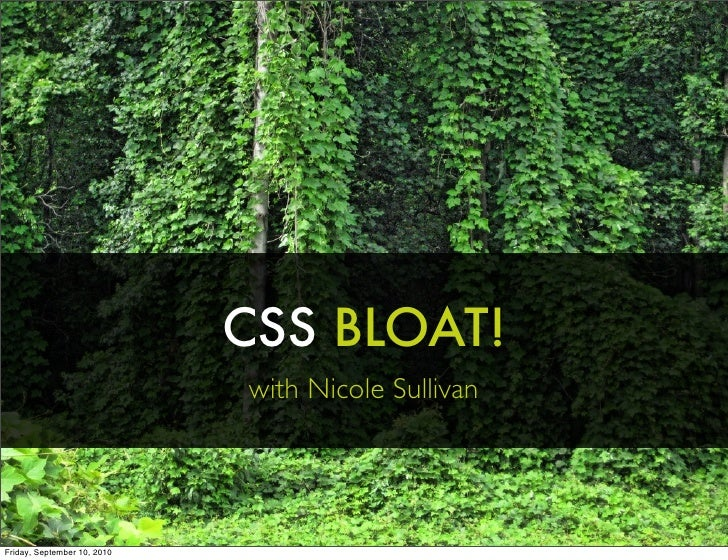 CSS Bloat!