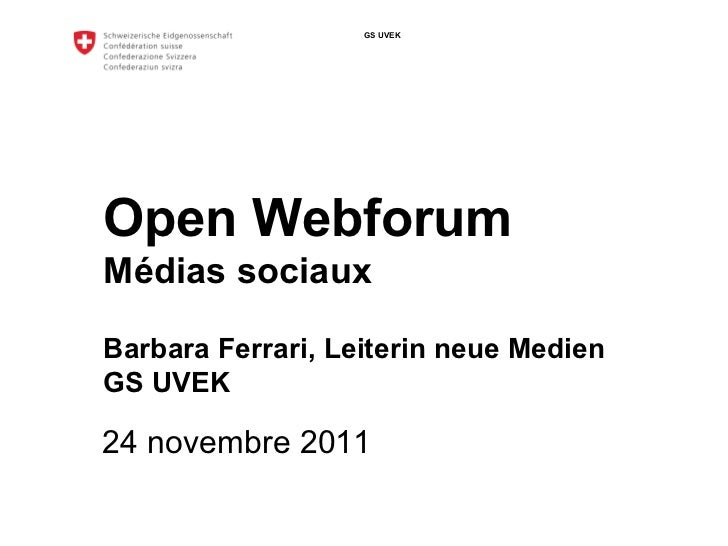 Open Webforum: Empfehlungen zum Einsatz von Social Media