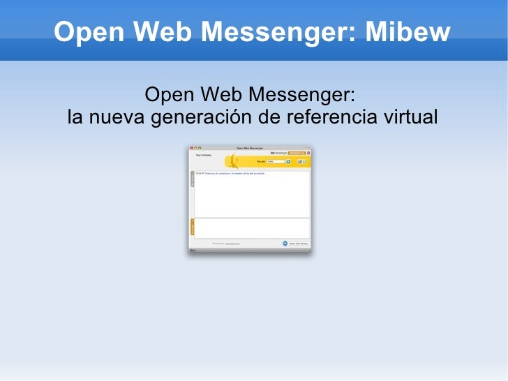 Mibew: open web messenger