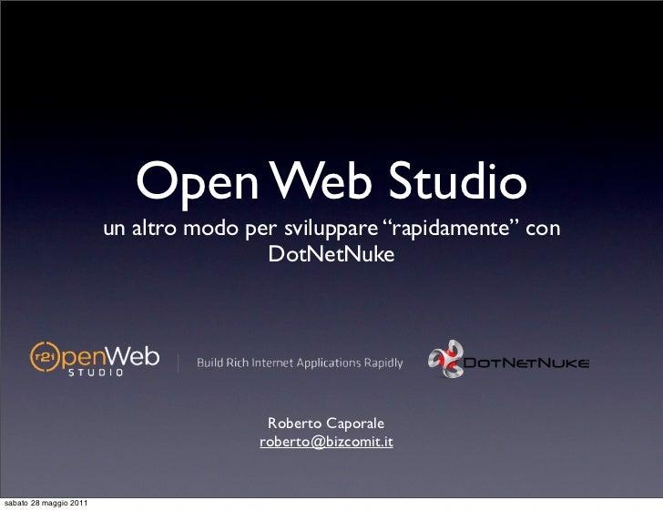 Open Web Studio (Roberto Caporale)