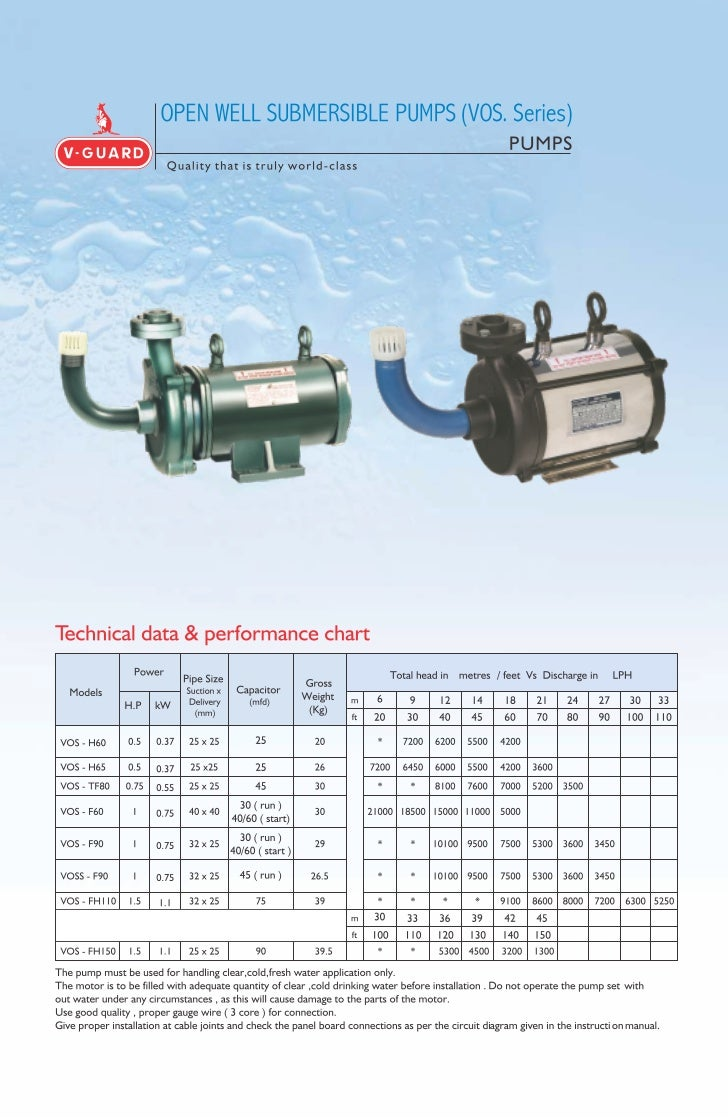 Open well submersible_pumps