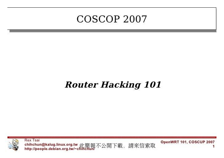 OpenWrt101 2007