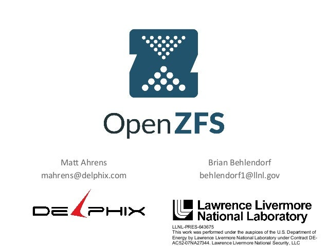 OpenZFS at LinuxCon
