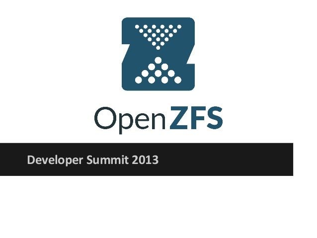 OpenZFS Developer Summit Introduction