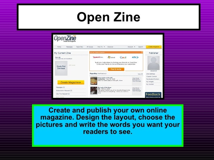 A guide to using OpenZine