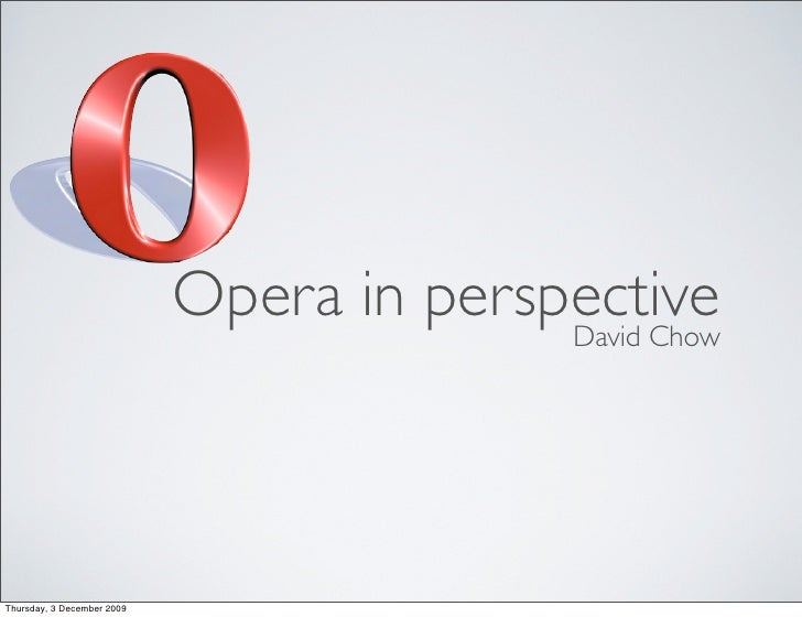 Perspective on Opera