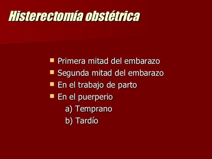 OPERACION CESAREA E HISTERECTOMIA OBSTETRICA
