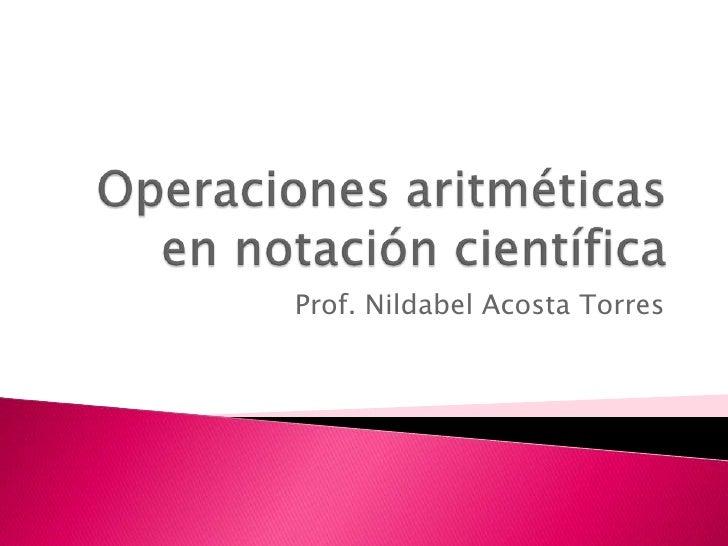 Prof. Nildabel Acosta Torres