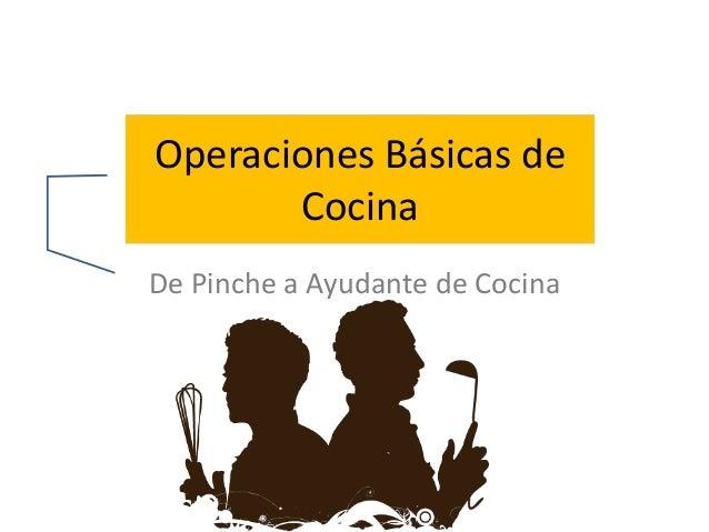 operaciones basicas de cocina