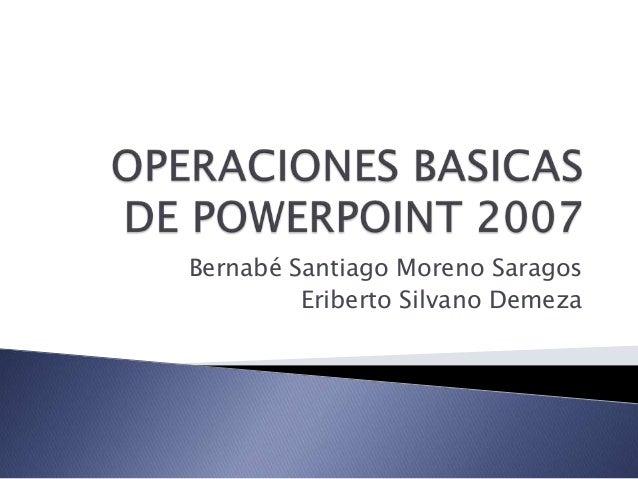 Operaciones basicas de powerpoint 2007