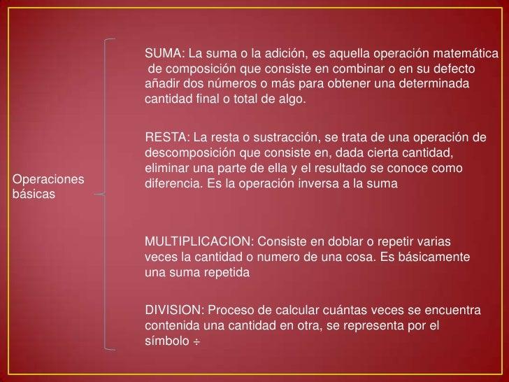 Operaciones basicas y propiedades
