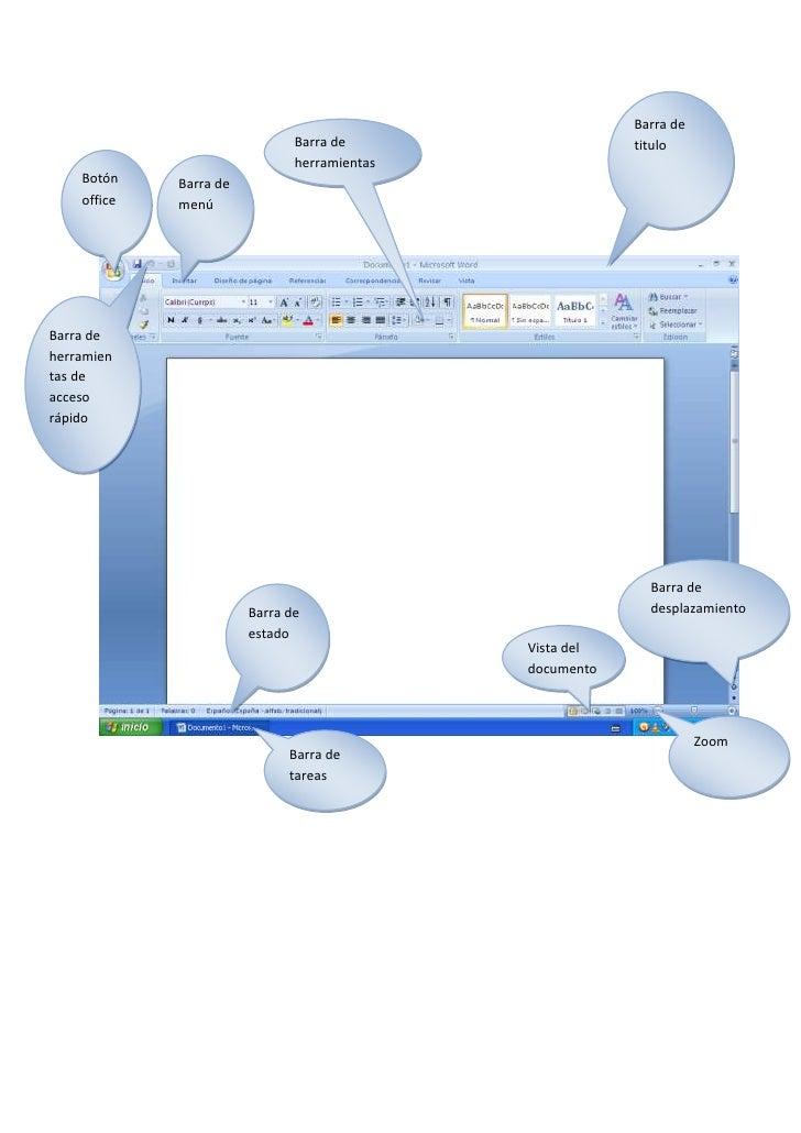 Barra de titulo-1371601519555Barra de herramientas<br />Vista del documentoBarra de desplazamientoBarra de herramientas de...