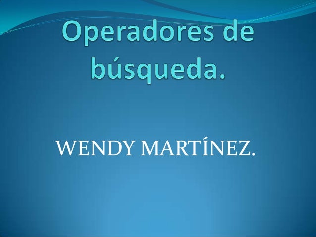 WENDY MARTÍNEZ.