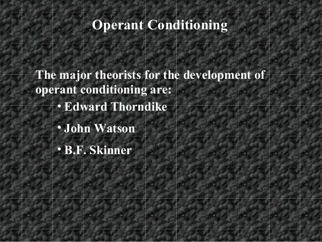 The Study of Behavior Development by Watson, Pavlov, Thorndike, and Skinner