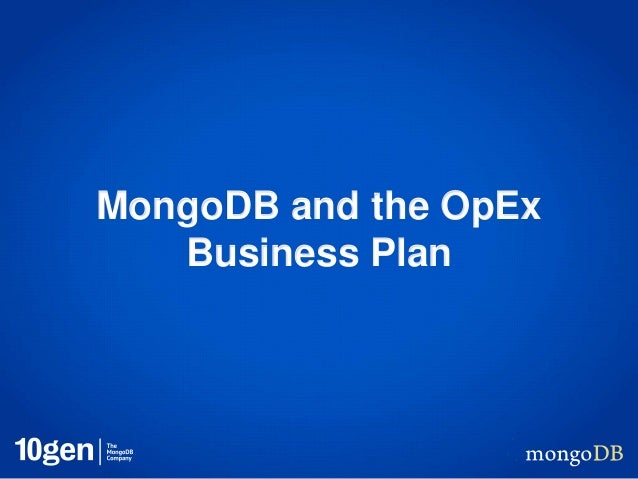 MongoDB and the OpEx Business Plan