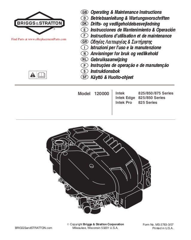 briggs and stratton 675 manual