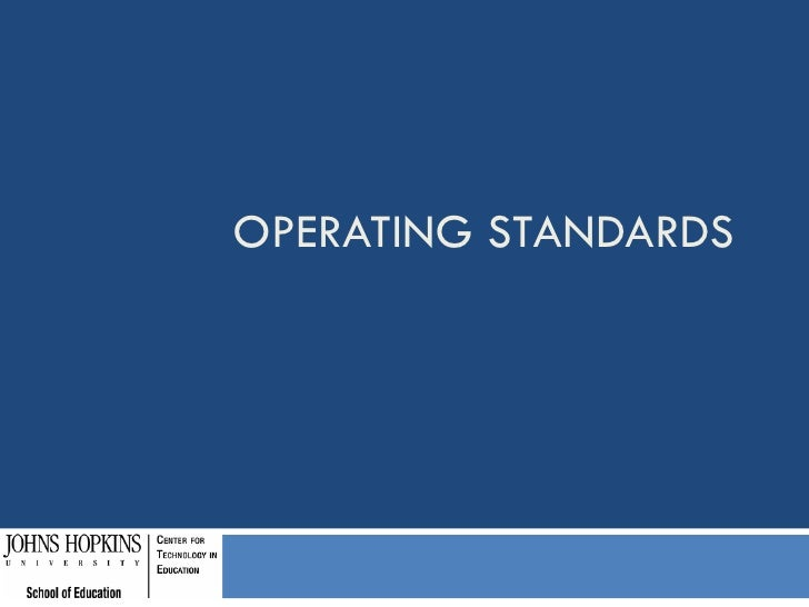OPERATING STANDARDS