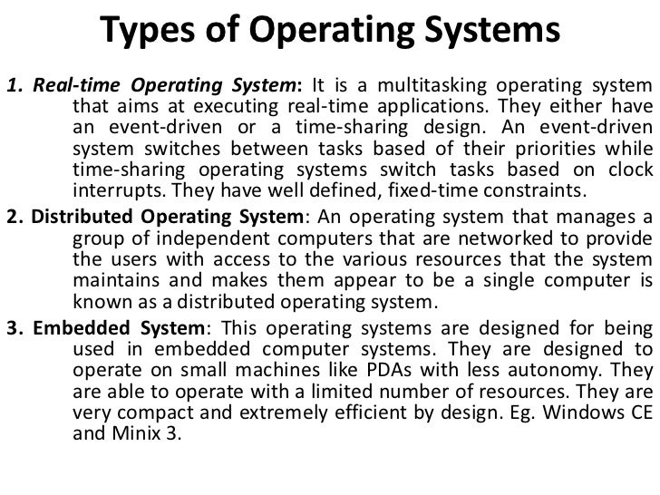 operating system and different types In sdn, a network operating system (nos), also known as an sdn  in addition , each sbb inspects different types of control messages.